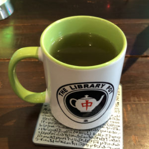 Green tea in a mug